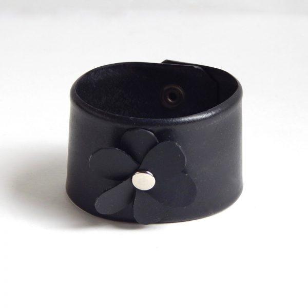 recycled inner tube cuff bracelet