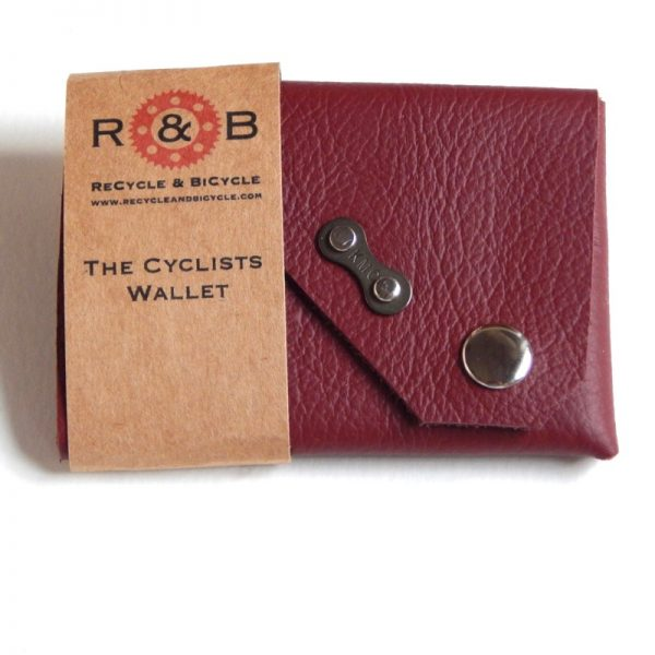 Leather cyclists cycling bicycle wallet