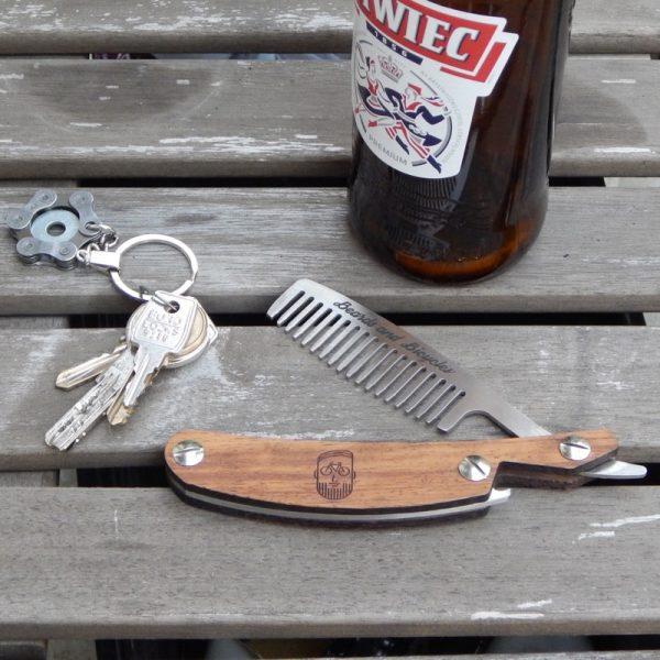 Cut throat razor comb beards & bicycles