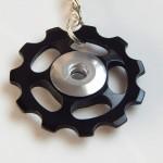 Black Jockey wheel key ring