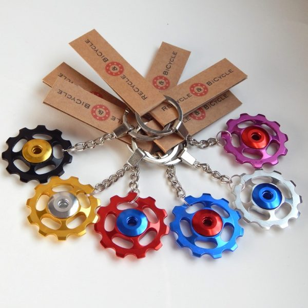 Jockey wheel key ring