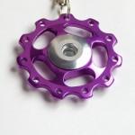purple Jockey wheel key ring