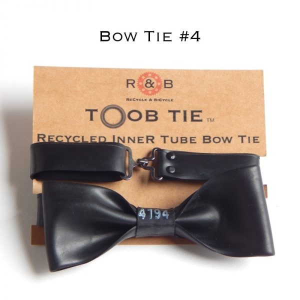 recycled inner tube bow tie