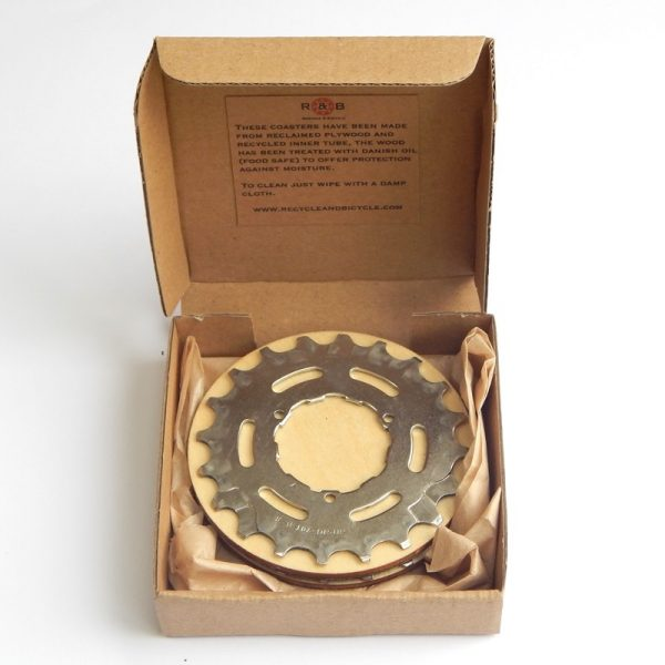recycled bike bicycle cassette coaster cycling gift