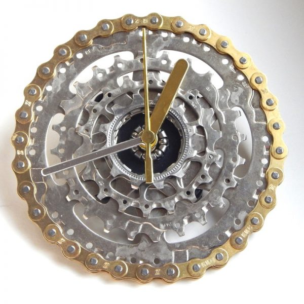 recycled bike bicycle cycling clock