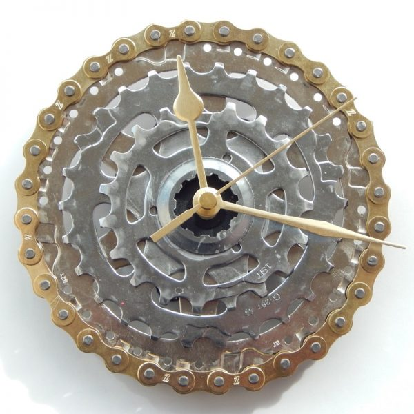 recycled bicycle clock cycling gift