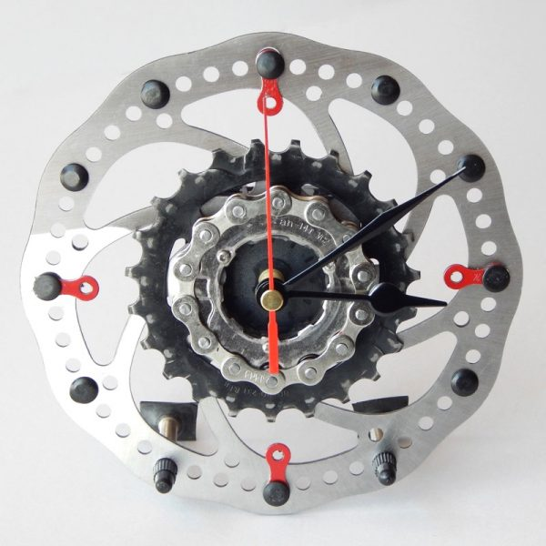 recycled bicycle desk clock