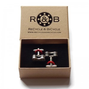 Recycle & Bicycle Chain cufflinks