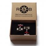 Recycle & Bicycle Bike Chain Cufflinks