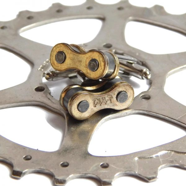 Bike Chain Cufflinks Recycle And Bicycle
