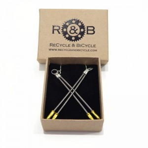 Brake cable earrings