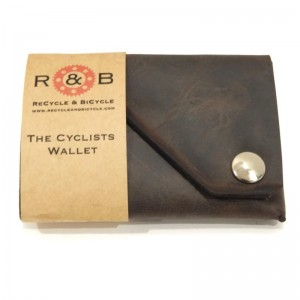 Cyclists Wallet Charcoal Brown