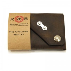 Cyclists Wallet Chain Link Charcoal Brown