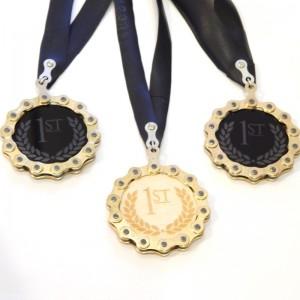 Bike chain gold medal