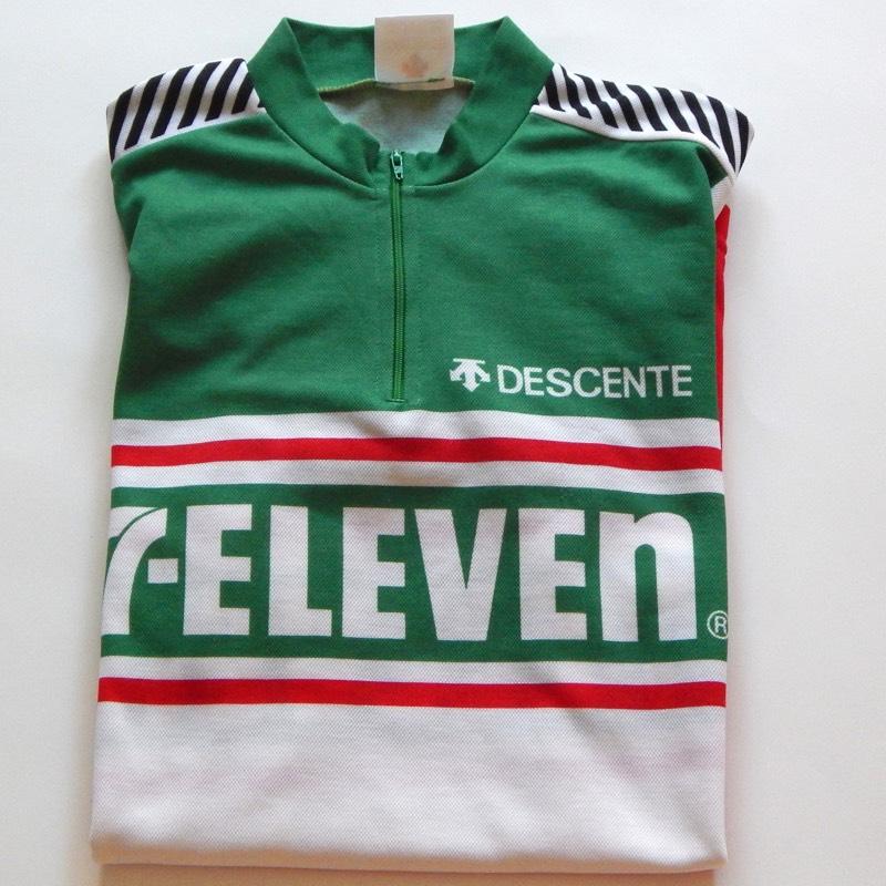 ebbac8652 Rare Vintage Retro NOS Descente 7 Eleven Cycling Jersey 38″  SOLD