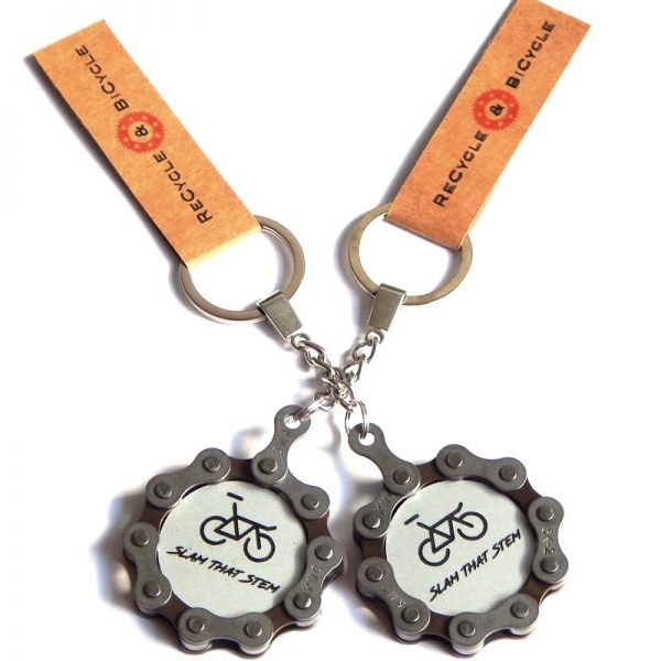bicycle chain keyring fixed gear fixie cycling gift