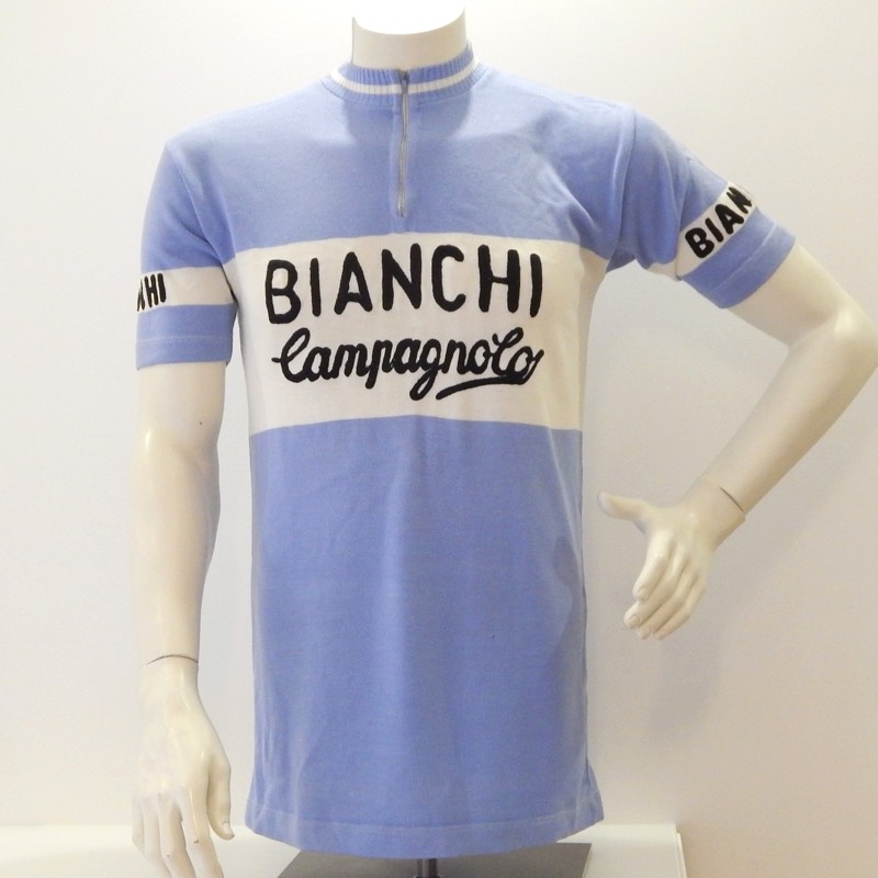 Vintage 1970 s Bianchi Campagnolo Cycling Jersey 40