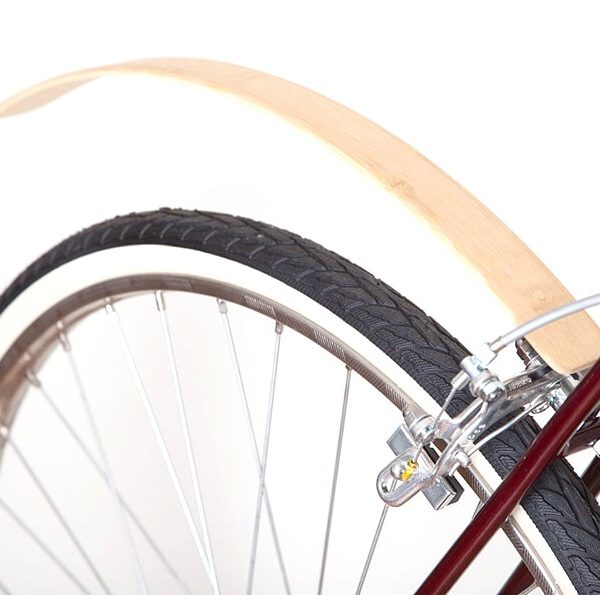 Wooden rear mudguards ar Recycle & bicycle