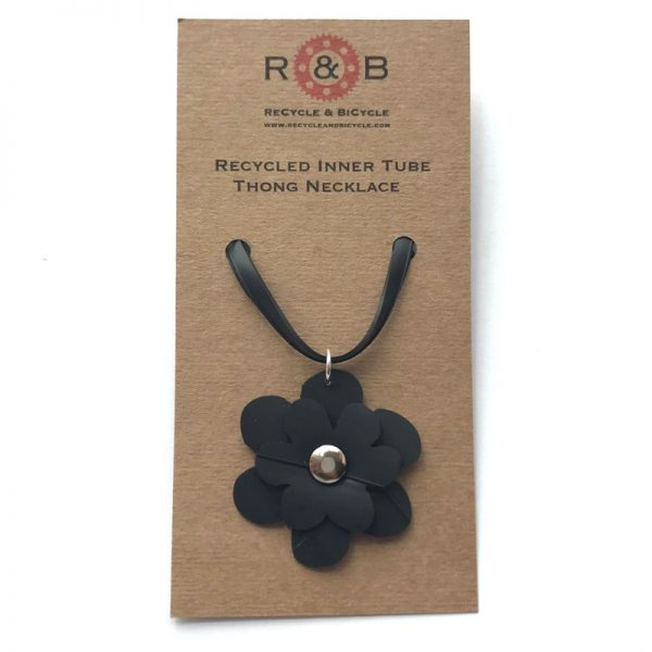 recycled inner tube necklace
