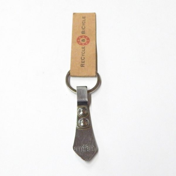 recycled bicycle toe clip key ring