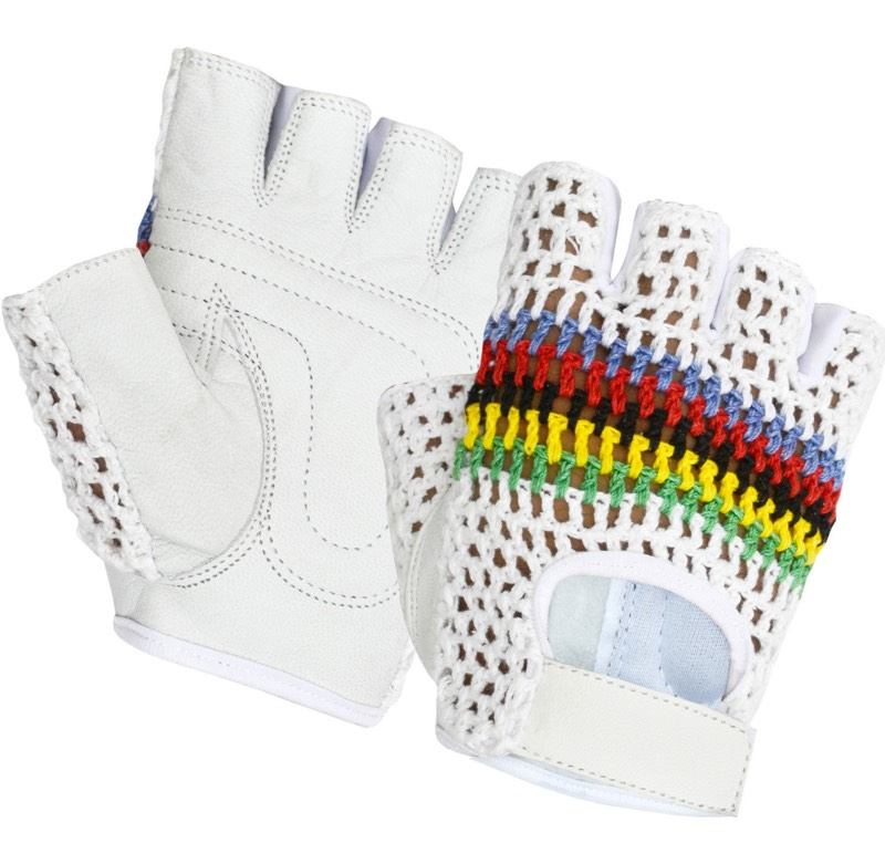 vintage retro cycling gloves