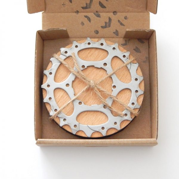 bicycle cassette cog coasters
