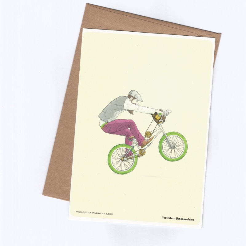Bicycle Themed Postal Art Cards By Ibai Eizaguirre Sardon