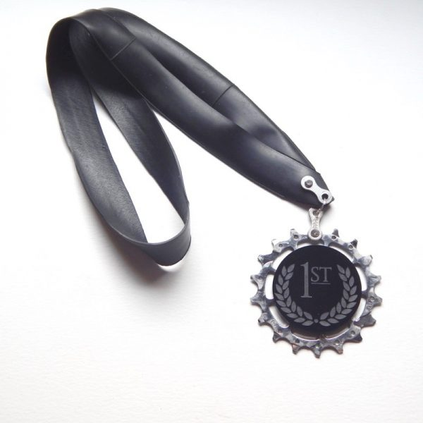 Recycled cycling medal
