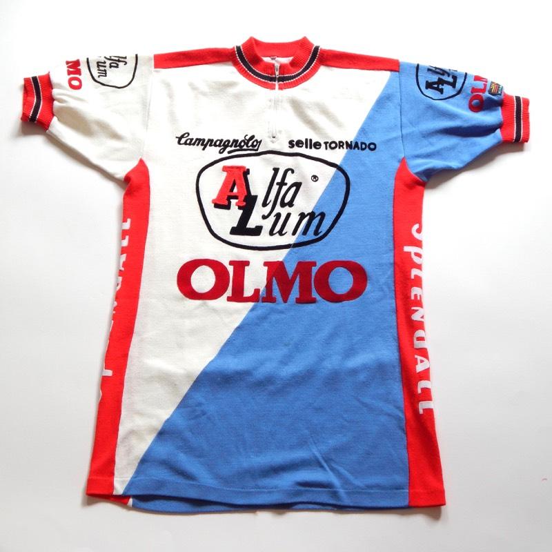 VIntage 1983 Olmo Alfa Lum Campagnolo Cycling Jersey 40