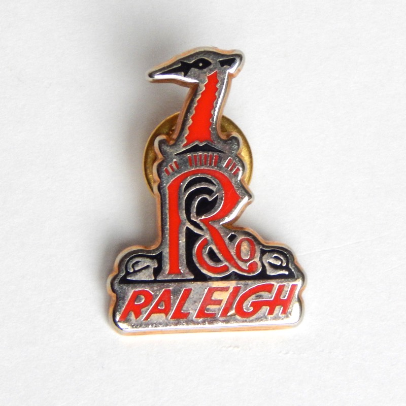 vintage cycling pin badge