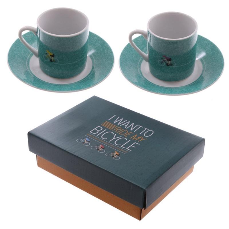 bike espresso cups