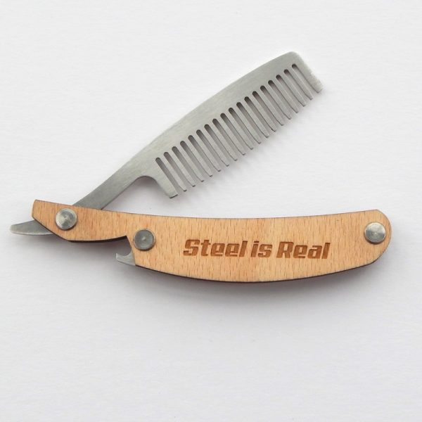 Handcrafted steel is real Cut Throat Razor Comb