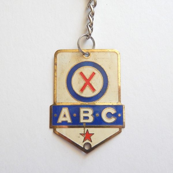 vintage bicycle keyring