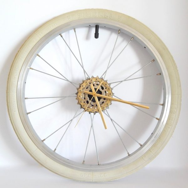 Brompton bicycle wheel clock
