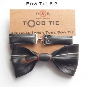 recycled inner tube bow tie cyclists gift