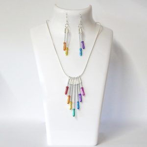 recycled brake cable necklace