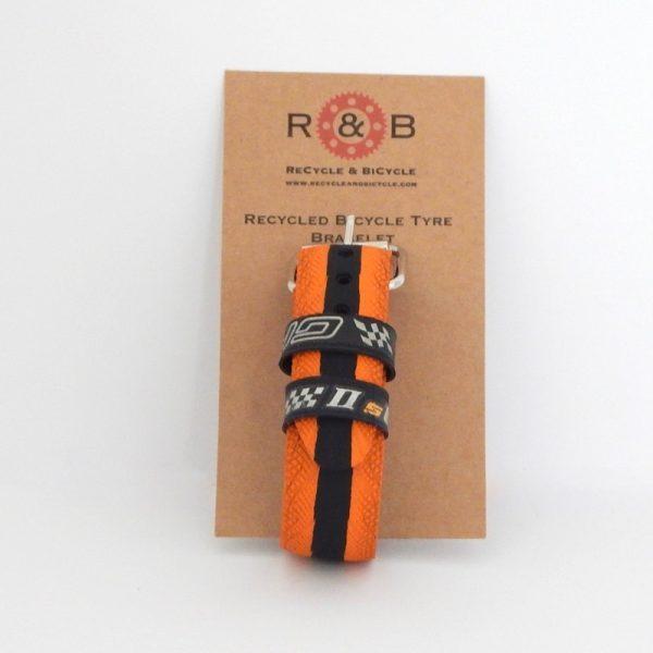 recycled bike tire bracelet