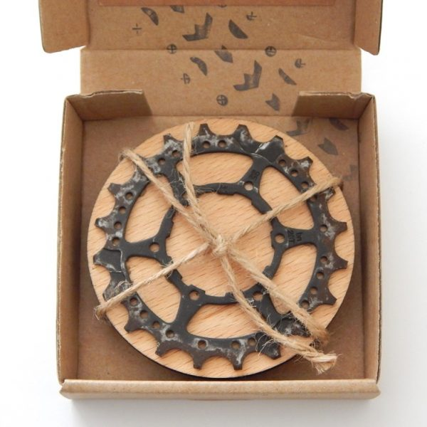 recycled bicycle cassette cog coasters