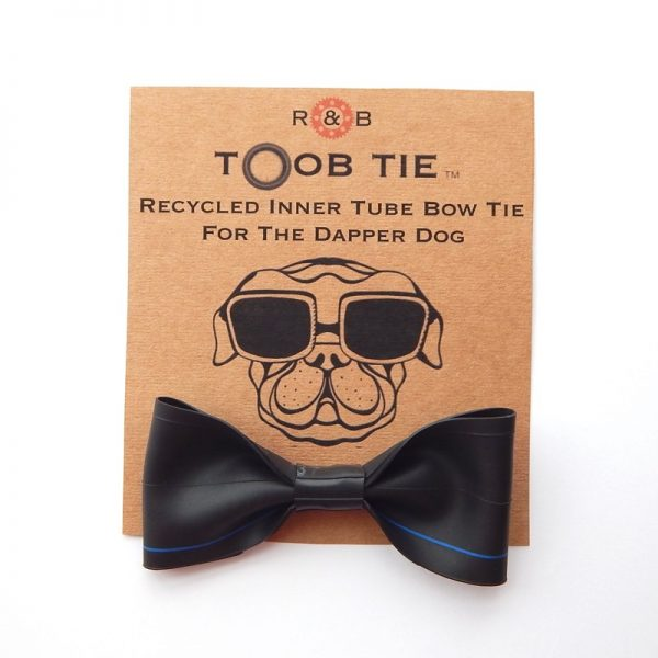 Recycled Bicycle Inner Tube Dog Bow Tie