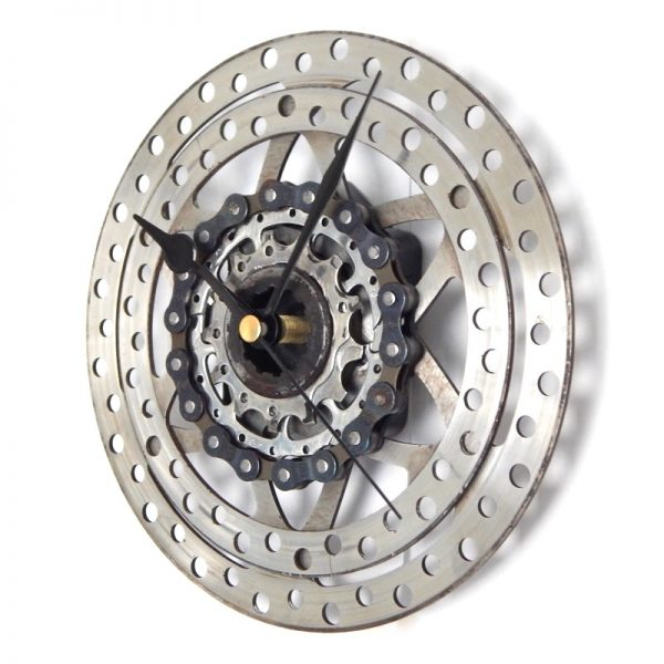 recycled bicycle gear and brake clock
