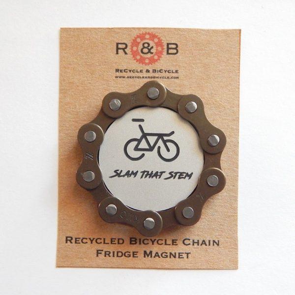 bicycle chain fridge magnet