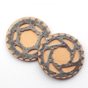 recycled bicycle cassette coaster
