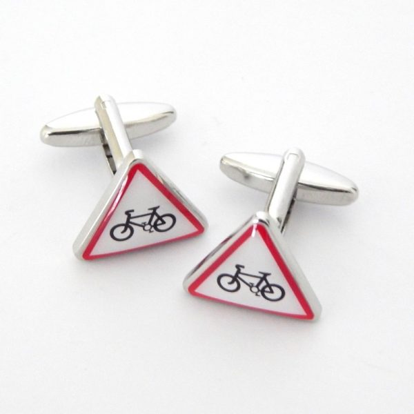 warning cyclists cufflnks cool stuff for cool people