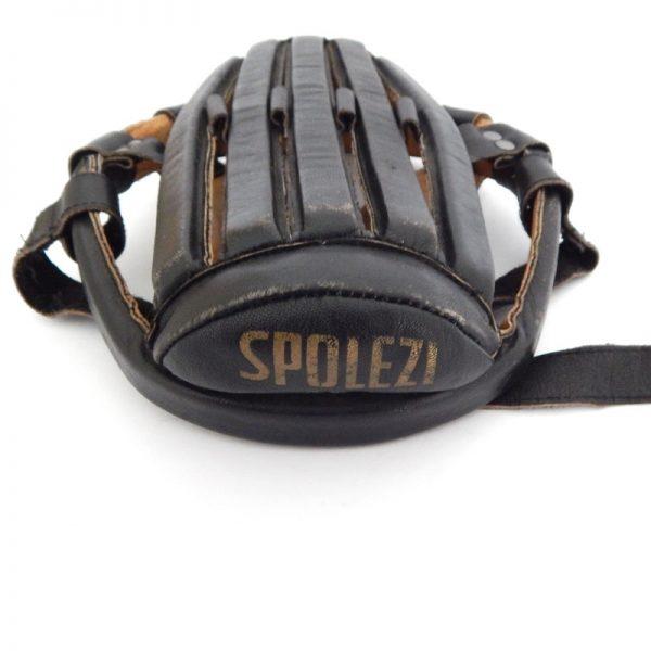 vintage leather cycling crash hat helmet hairnet