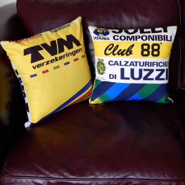 recycled cycling jersey cushion covers