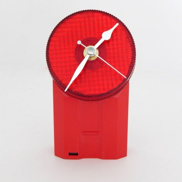 Recycled Bicycle Lamp Desk Clock