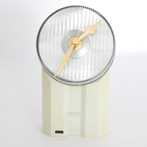 recycled bicyle light desk clock