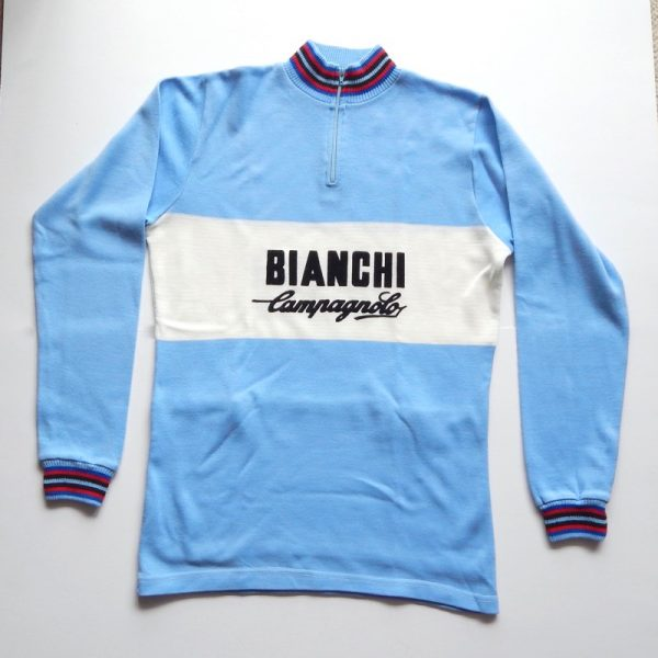 vintage campagnolo bianchi cycling jersey