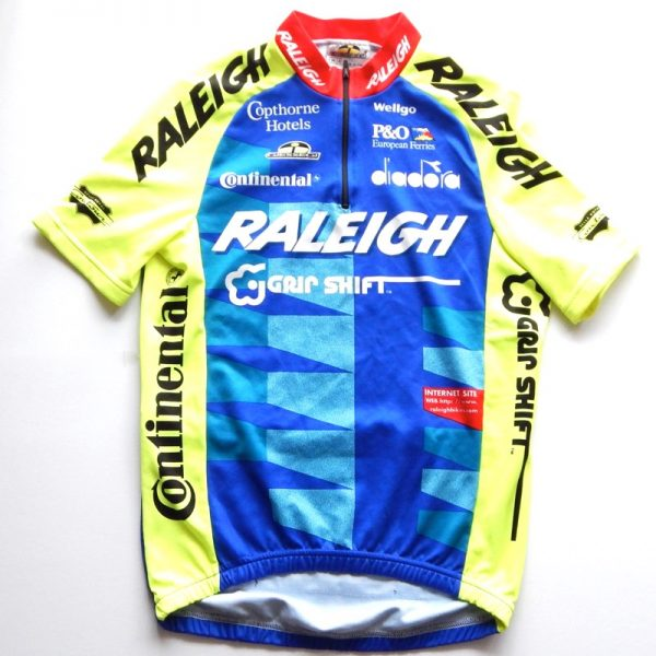retro raleigh cycling jersey