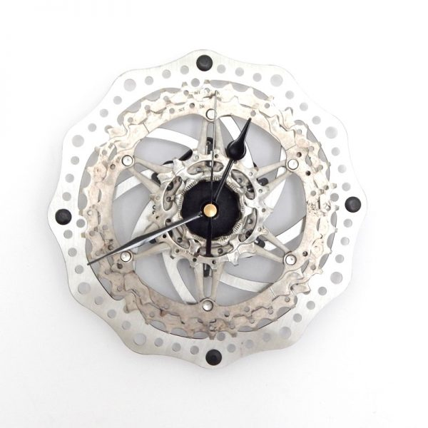 Recycled Bicycle Brake Rotor & Cassette Wall Clock
